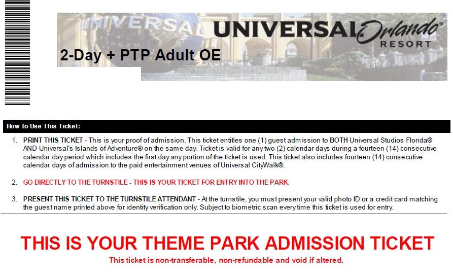 universal ticket
