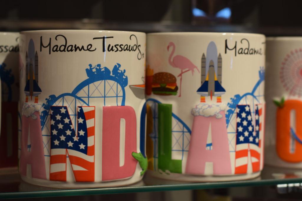 Produtos vendidos na lojinha do Madame Tussauds