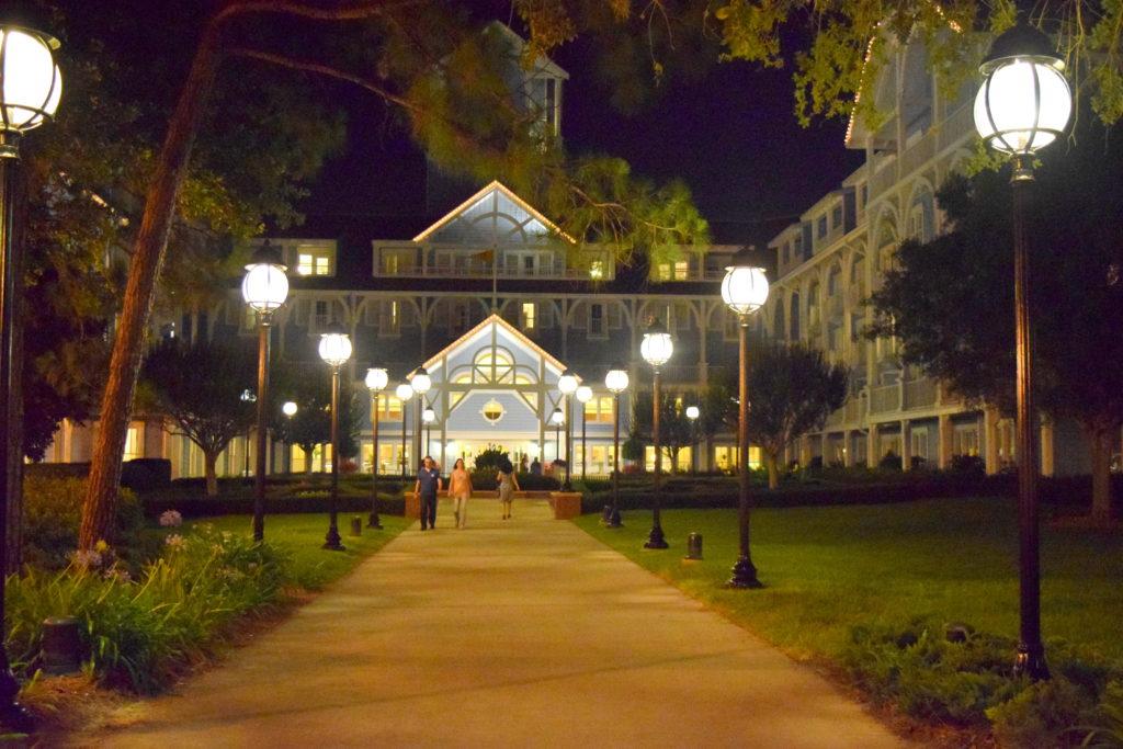 Entrada do Beach Club Resort pela parte de trás dele.