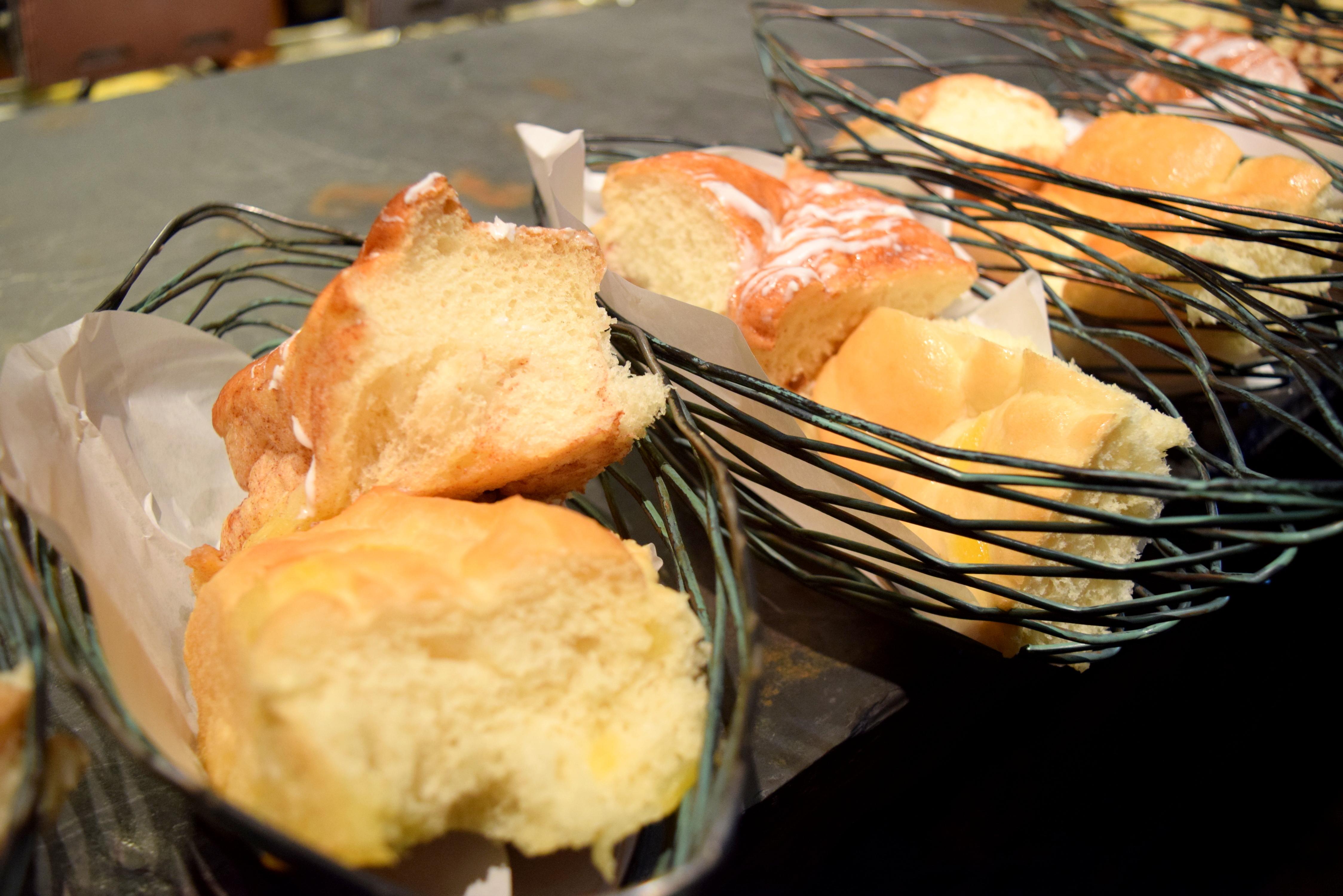 Pães doces deliciosos - sem dúvida, foi o item mais gostoso do café da manhã.