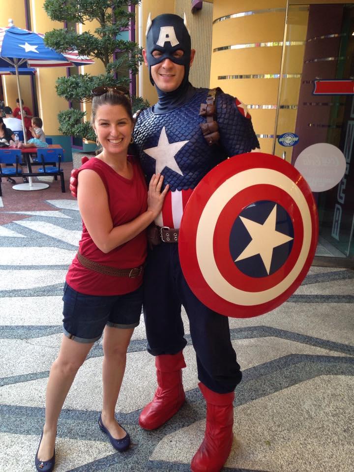 Capitão América no parque Islands of Adventure