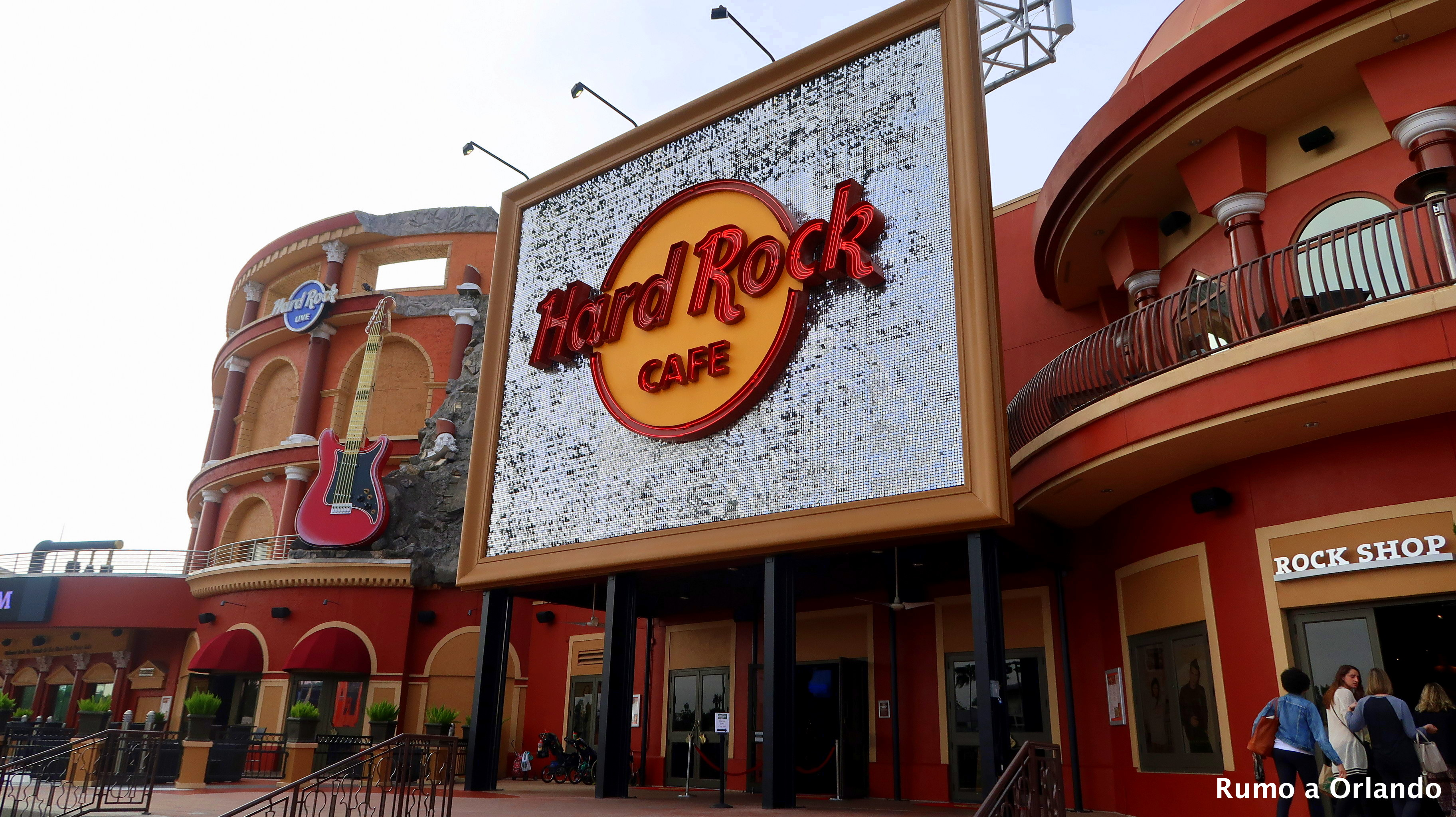 Hard Rock Cafe Orlando Fica Dentro Do Parque