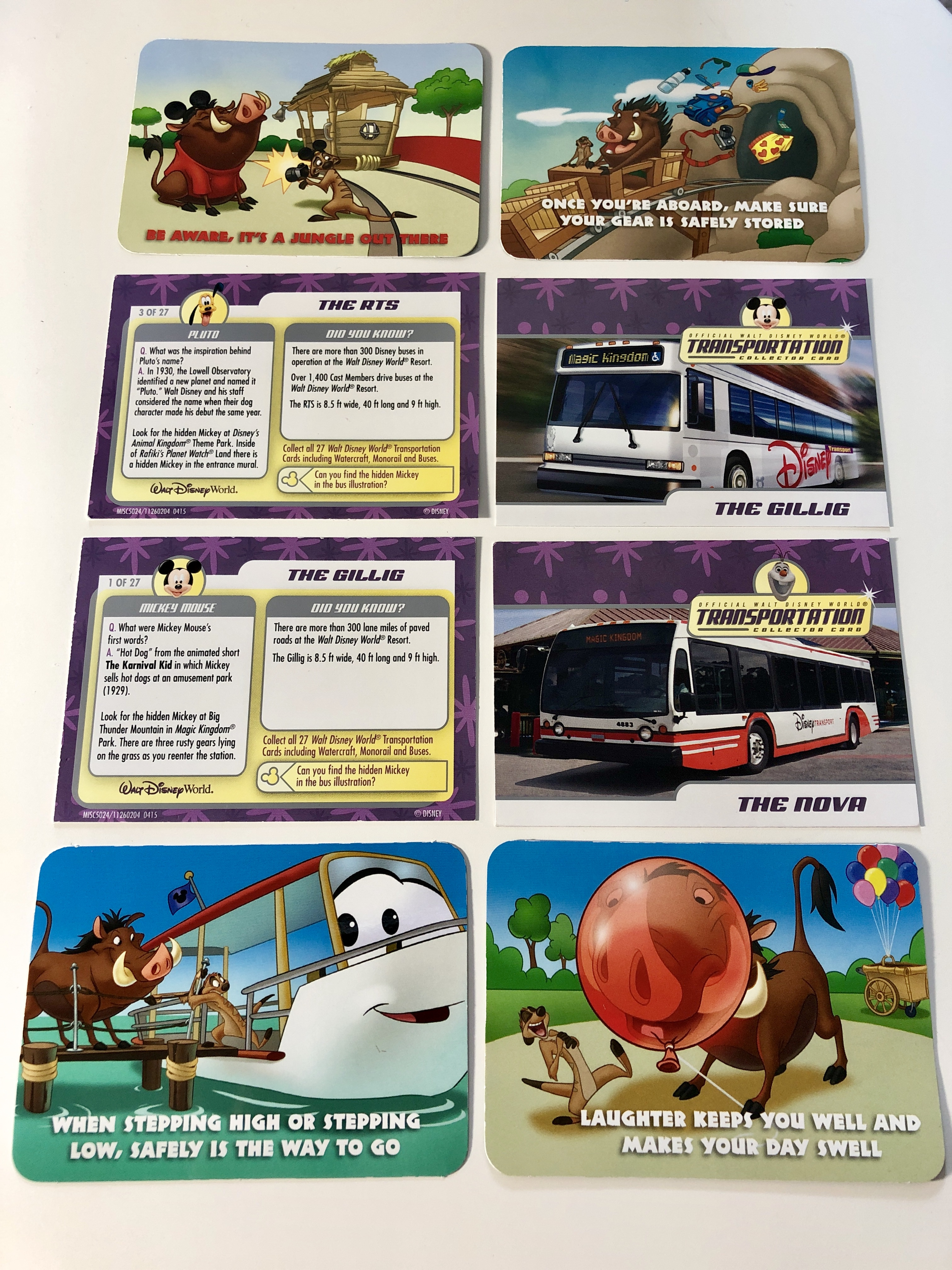 Transportation Collector Cards