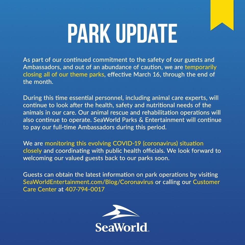 Coronavírus nos parques de Orlando