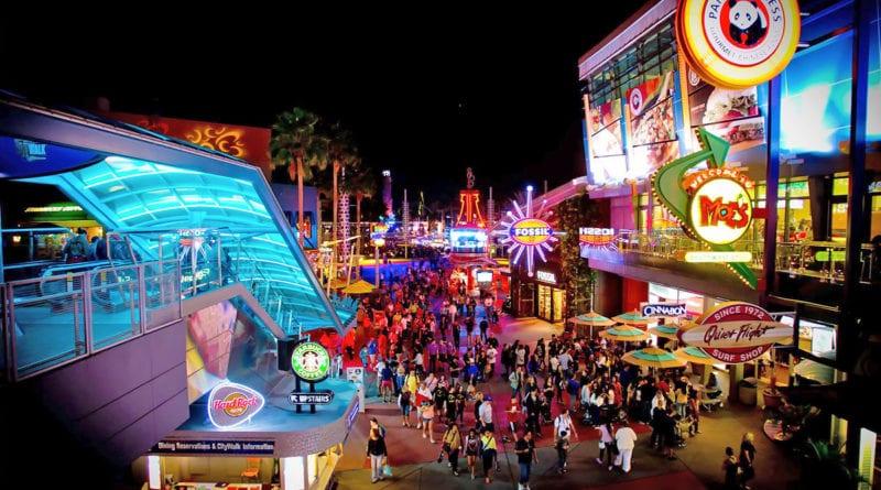 Universal City Walk rumo a orlando