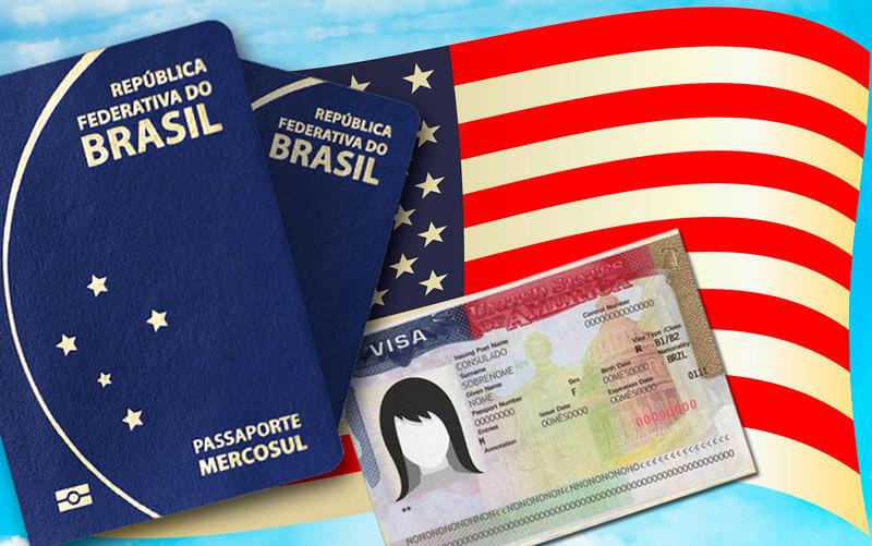 passaporte e visto americano