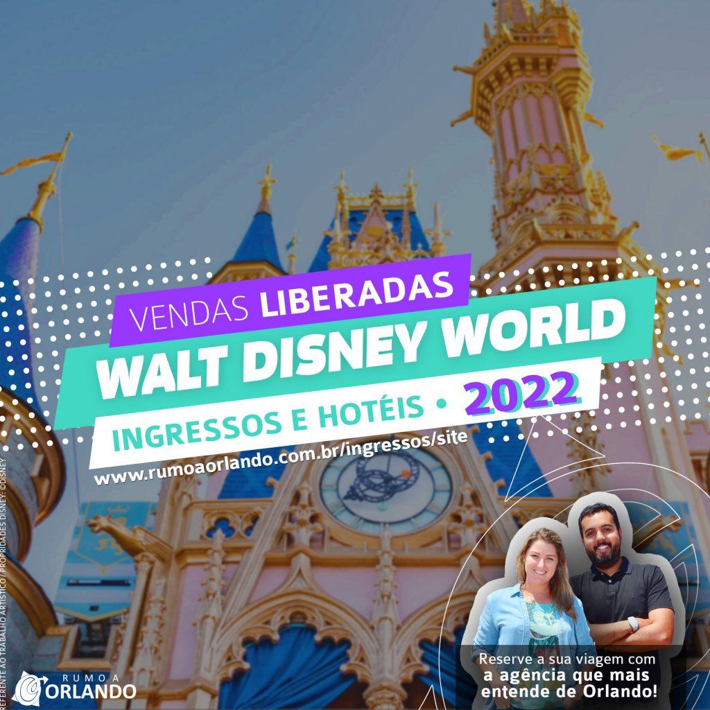 Disney libera a venda de ingressos e hospedagens para 2022
