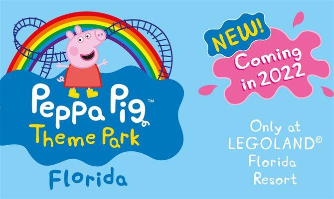 Legoland Florida anuncia novo parque temático da Peppa Pig para 2022